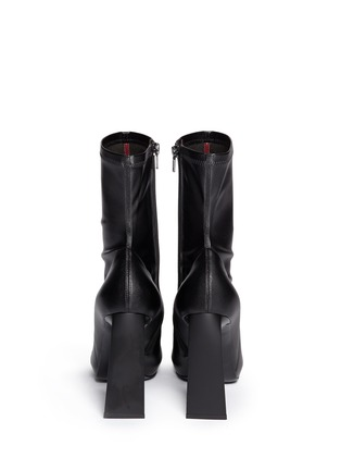 Back View - Click To Enlarge - Stella McCartney - Triangle block heel mid calf boots