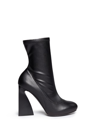 Main View - Click To Enlarge - Stella McCartney - Triangle block heel mid calf boots