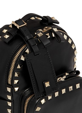 Detail View - Click To Enlarge - Valentino - 'Rockstud' mini leather backpack