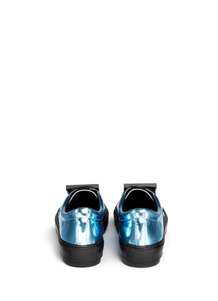 Back View - Click To Enlarge - Acne Studios - 'Adriana' robot plate metallic leather sneakers