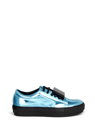 Main View - Click To Enlarge - Acne Studios - 'Adriana' robot plate metallic leather sneakers