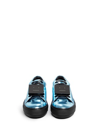 Figure View - Click To Enlarge - Acne Studios - 'Adriana' robot plate metallic leather sneakers