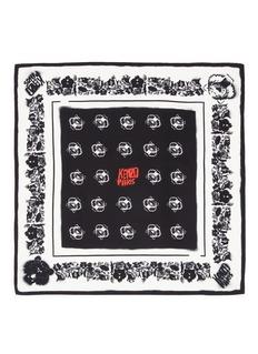 KENZOTiger graffiti print silk bandana scarf