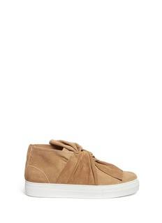 Ports 1961 Knot vamp platform suede sneakers
