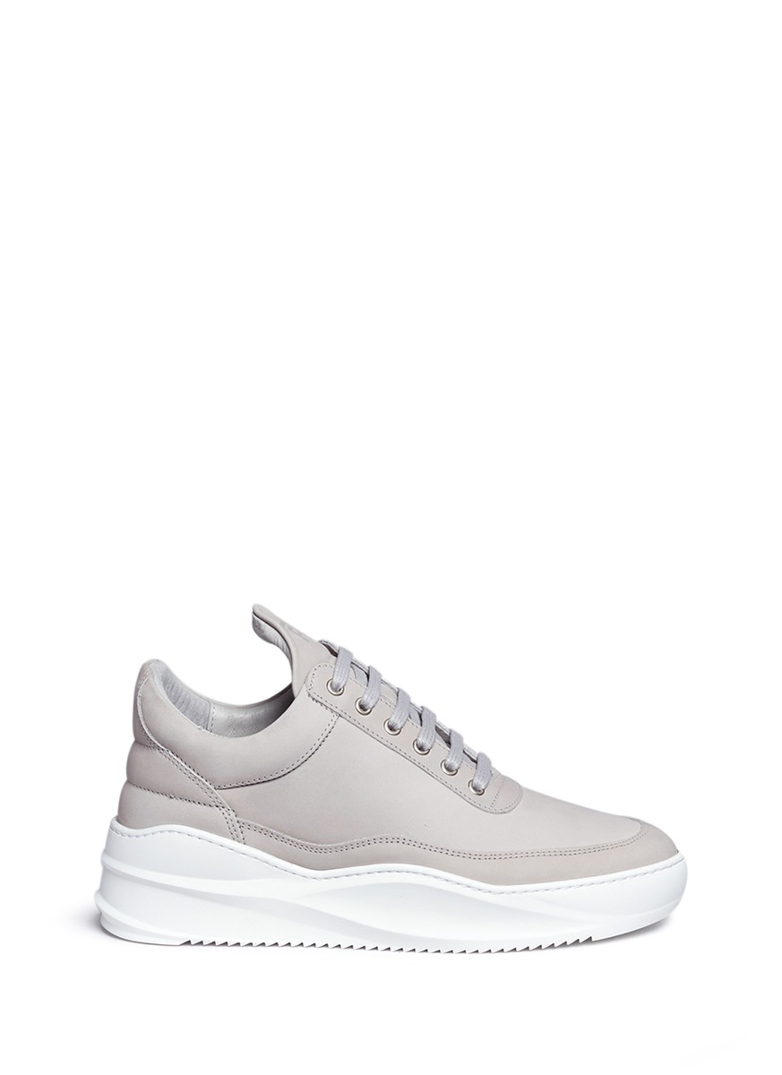 Low Top nubuck leather sneakers by Filling Pieces