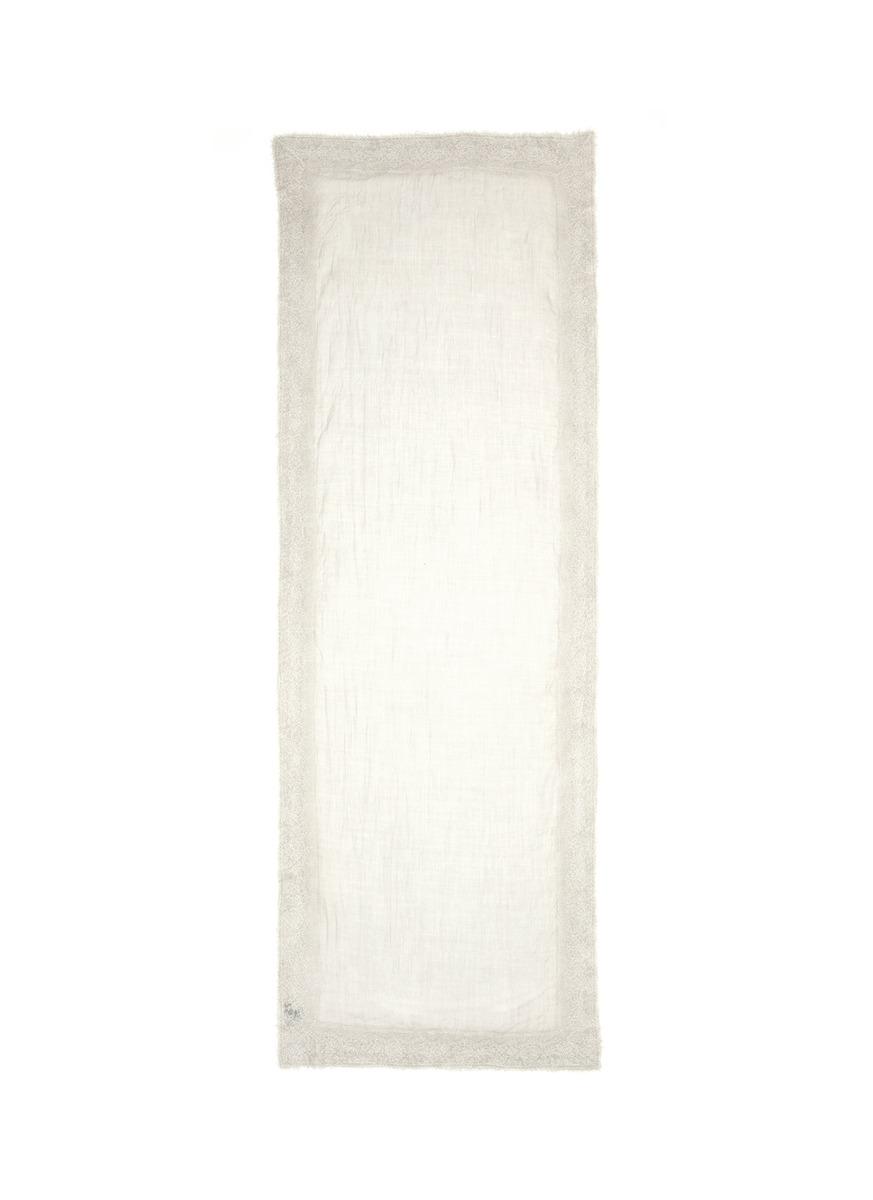 Azeglio lace border cashmere scarf by Franco Ferrari
