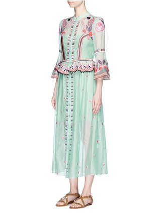 Front View - Click To Enlarge - Temperley London - 'Wildflower' floral embroidered ruffle dress