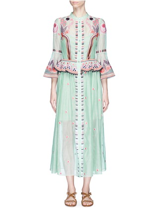 Main View - Click To Enlarge - Temperley London - 'Wildflower' floral embroidered ruffle dress