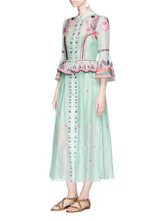 Temperley London'Wildflower' floral embroidered ruffle dress