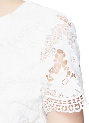 Detail View - Click To Enlarge - alice + olivia - 'Karen' floral guipure lace dress