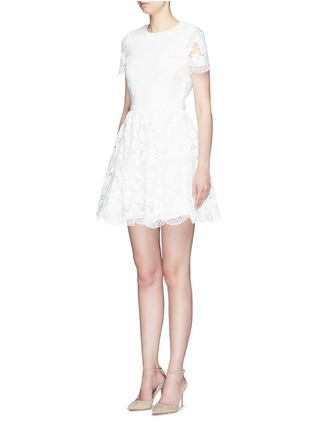 Front View - Click To Enlarge - alice + olivia - 'Karen' floral guipure lace dress