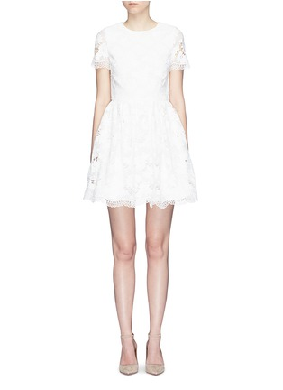Main View - Click To Enlarge - alice + olivia - 'Karen' floral guipure lace dress