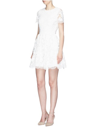 Figure View - Click To Enlarge - alice + olivia - 'Karen' floral guipure lace dress