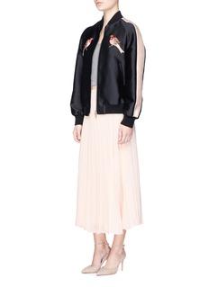 alice + olivia'Essie' pleated crépon midi skirt