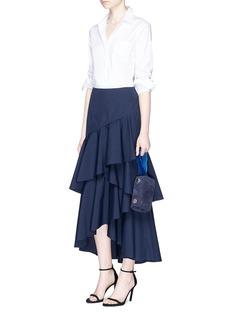 alice + olivia'Martina' ruffled poplin skirt