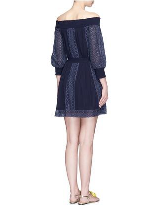 Back View - Click To Enlarge - alice + olivia - 'Pammy' embroidered off-shoulder dress