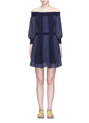 Main View - Click To Enlarge - alice + olivia - 'Pammy' embroidered off-shoulder dress