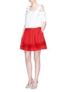 alice + olivia'Tania' lace insert pouf skirt