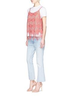 alice + olivia'Waverly' fringe hem floral lace camisole