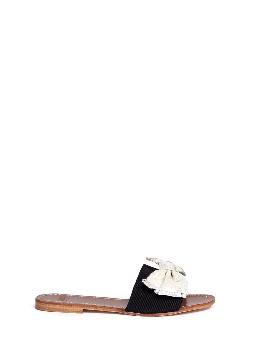 Judy grosgrain bow slide sandals by Frances Valentine