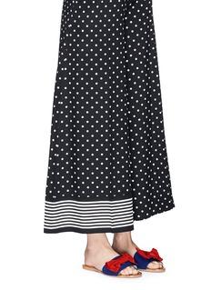Frances Valentine 'Judy' grosgrain bow slide sandals
