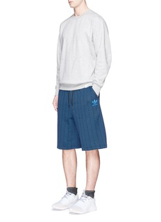Adidas'XBYO' reflective print cotton sweatshirt