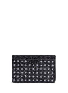Alexander McQueenSkull hexagon print leather card holder