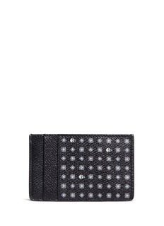 Alexander McQueen Skull hexagon print leather card holder