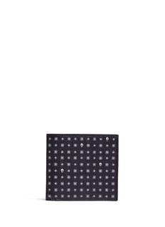 Alexander McQueenSkull hexagon print leather bifold wallet