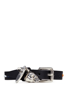 Alexander McQueen Single wrap skull stud leather bracelet