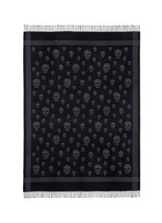 Alexander McQueenSkull jacquard wool-cashmere blanket