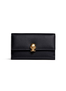 Alexander McQueen Skull clasp leather French wallet
