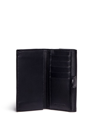 Figure View - Click To Enlarge - Alexander McQueen - Skull clasp leather French wallet