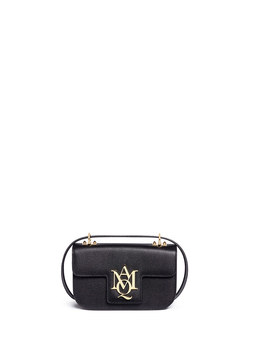 Insignia leather satchel by Alexander McQueen