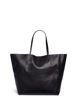 Detail View - Click To Enlarge - Alexander McQueen - Skull charm leather open shopper tote