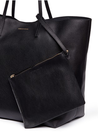 - Alexander McQueen - Skull charm leather open shopper tote