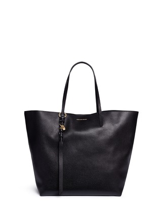 Main View - Click To Enlarge - Alexander McQueen - Skull charm leather open shopper tote