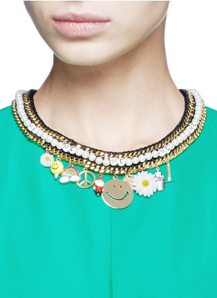 Figure View - Click To Enlarge - Venessa Arizaga - 'Glowing Garden' necklace