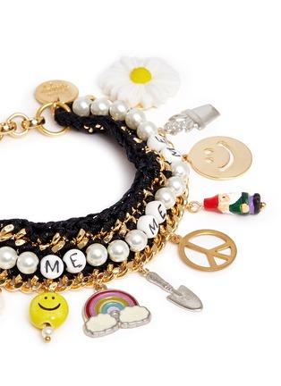Detail View - Click To Enlarge - Venessa Arizaga - 'Glowing Garden' bracelet