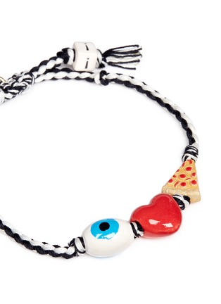 Detail View - Click To Enlarge - Venessa Arizaga - 'I Love Pizza' bracelet