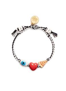 Venessa Arizaga'I Love Pizza' bracelet