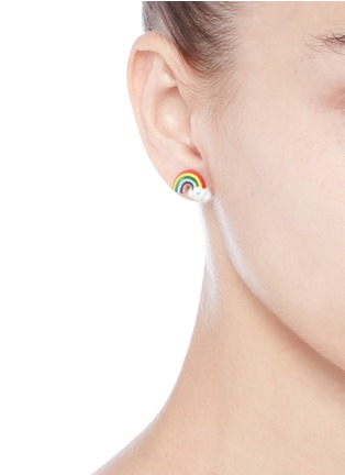 Figure View - Click To Enlarge - Venessa Arizaga - 'Rainbow Smile' earrings