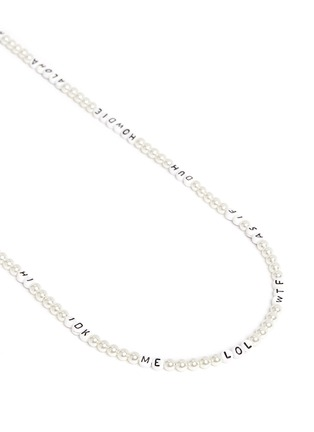 Detail View - Click To Enlarge - Venessa Arizaga - 'Say It Like You Mean It' necklace