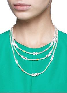 Venessa Arizaga'Say What?' glass pearl necklace