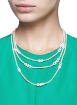 'Say What?' glass pearl necklace