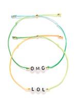 'OMG/LOL' bracelet set