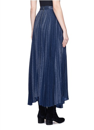 Back View - Click To Enlarge - alice + olivia - 'Katz' metallic jacquard pleated midi skirt