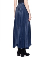 'Katz' metallic jacquard pleated midi skirt