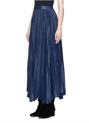 Front View - Click To Enlarge - alice + olivia - 'Katz' metallic jacquard pleated midi skirt