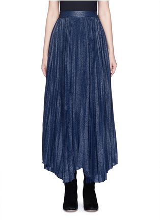 Main View - Click To Enlarge - alice + olivia - 'Katz' metallic jacquard pleated midi skirt